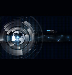 Transparent world with futuristic elements vector