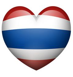 thailand flag in heart shape vector image