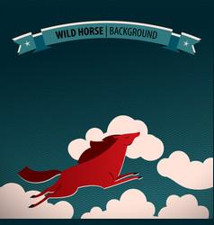 Wild horse poster vector