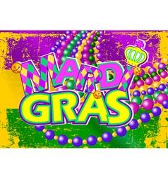 Mardi Gras flag vector image