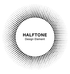 Black abstract halftone circle logo design element vector