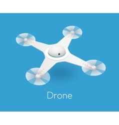 Isometric white quadcopter drone vector