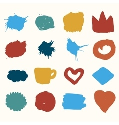 Watercolor shapes and stain vector