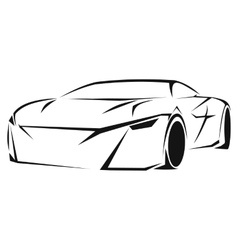 Car silhouette icon vector