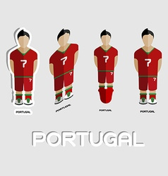 Portugal soccer team sportswear template vector