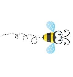 Funny honey bee vector