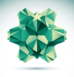 Abstract geometric 3d object clear eps 8 vector
