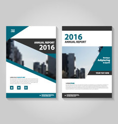 Annual report leaflet brochure flyer templates set vector