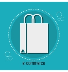 bag gift e-commerce design vector image