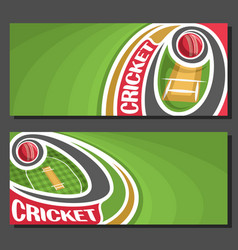 Banners for cricket game vector