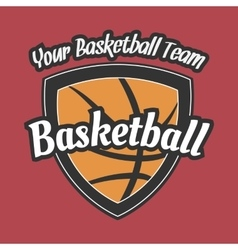 Basketball Team Label with Ball vector image vector image