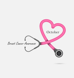 breast cancer october awareness month campaign vector image vector image