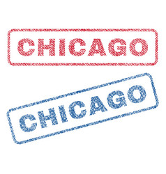 Chicago textile stamps vector