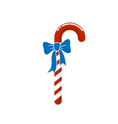 Christmas candy with bow isolated on white vector