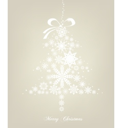 Christmas Tree with stars background vector image