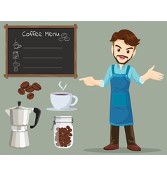 Coffee man vector