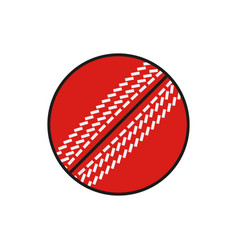 cricket ball icon on white background vector image vector image