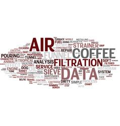 Filters word cloud concept vector