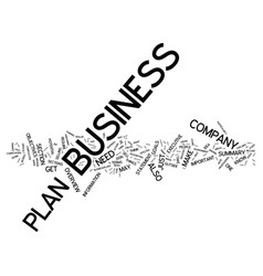 Five steps to an effective business plan text vector