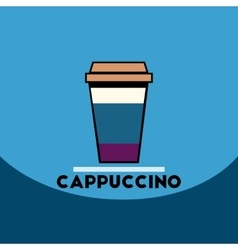 flat icon design collection cappuccino to vector image