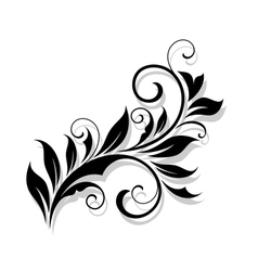 Floral design element in a refined style vector image vector image