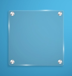 Glass plate background with rivets for text vector