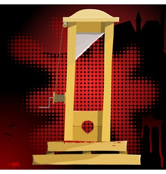 guillotine vector image vector image