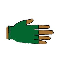 Hand human protection glove medical vector