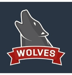 Howling wolf mascot vector