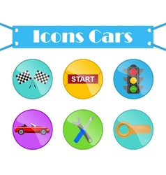 Icons cars vector image vector image