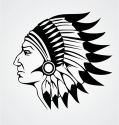 Indian head vector