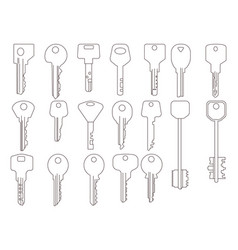 key line icons graphic vector image