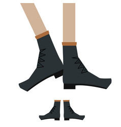 Legs in shoese vector