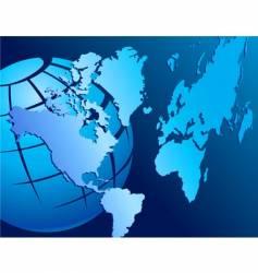 Map-globe vector