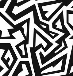 Monochrome retro geometric seamless pattern vector