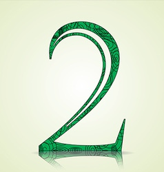 Number of Collection made of swirls - 2 vector image vector image