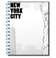 Paper template with new york theme vector