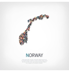 people map country Norway vector image