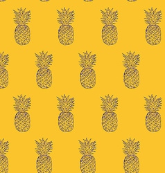 Pineapple hand drawn sketch grunge outline vector