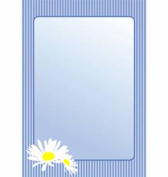 postcard with chamomile flowers vector image vector image