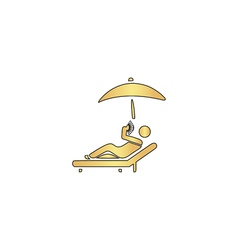 Relax computer symbol vector image vector image