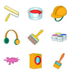Renovation icons set cartoon style vector