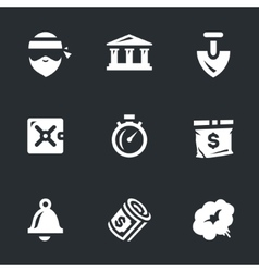 Set of bank robbery vector