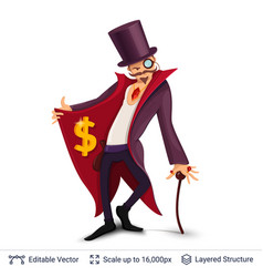 Sly character offers specials vector