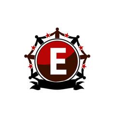Synergy logo initial e vector