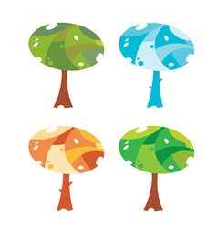 trees cute vector image vector image
