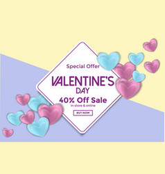 valentines day card or sale banner 4 vector image vector image