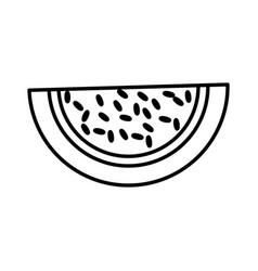 Watermelon fruit fresh outline vector