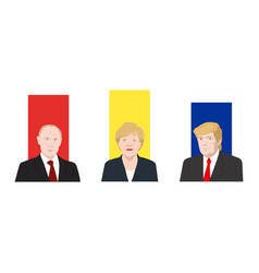 world leaders theme vector image