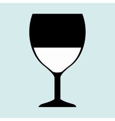 Cup glass drink icon vector